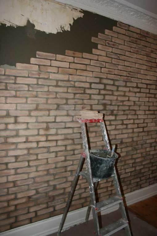 New Yorker væg med tynde murstensskaller   Abelona's Blog