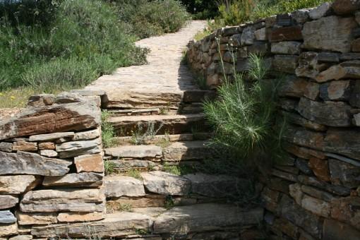trappen, Trapper i natursten