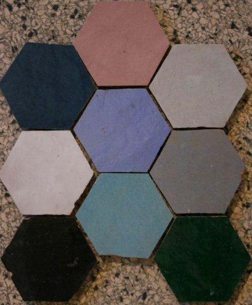 Marokkanske fliser Hexagone.